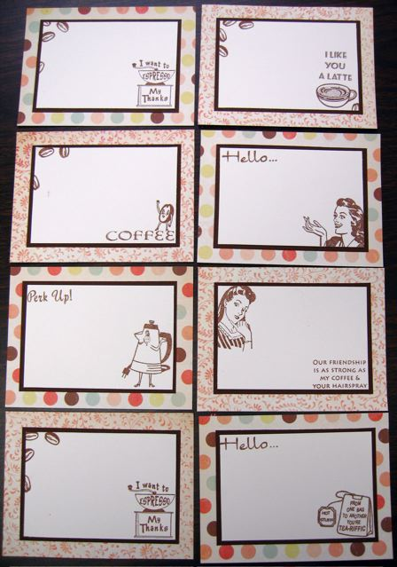 Coffee Correspondence Cards